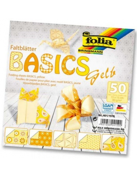Papier do origami 15x15 cm - 50 kartek
