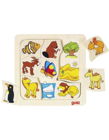 Puzzle - Gdzie mieszkają te zwierzęta