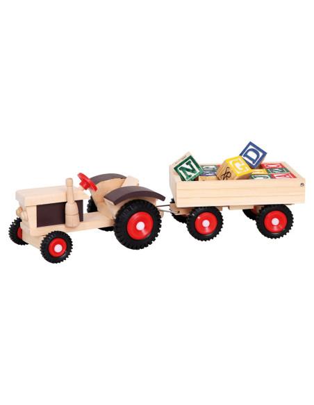 Traktor na gumowych kołach z przyczepą ABC