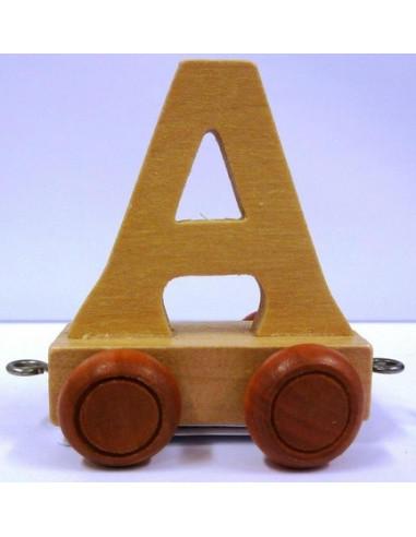 """Wagonik """"A"""" – brązowe kółka"""
