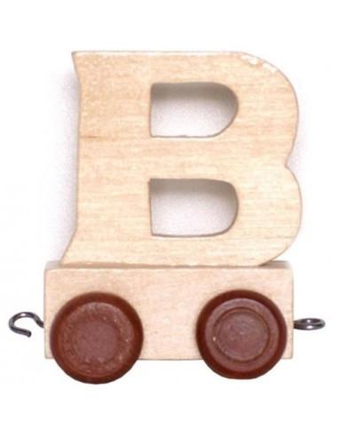 "Wagonik ""B"" – brązowe kółka"
