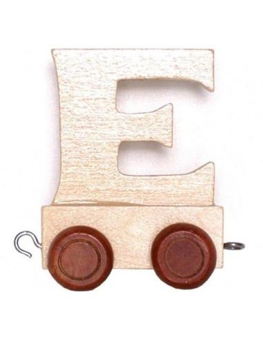 "Wagonik ""E"" – brązowe kółka"
