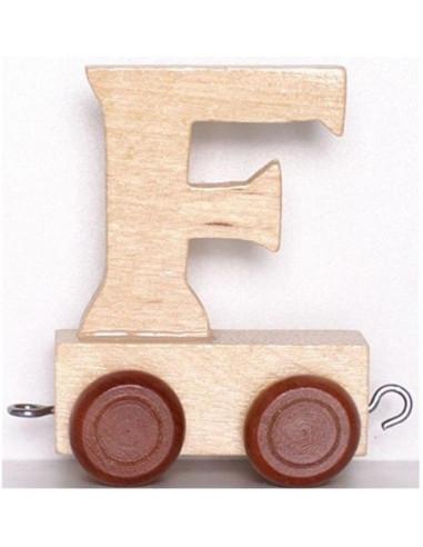 """Wagonik """"F"""" – brązowe kółka"""
