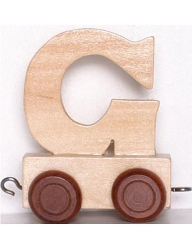 "Wagonik ""G"" – brązowe kółka"