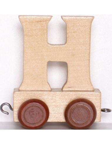 "Wagonik ""H"" – brązowe kółka"