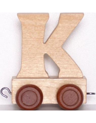 """Wagonik """"K"""" – brązowe kółka"""