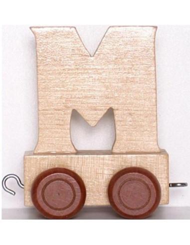 "Wagonik ""M"" – brązowe kółka"