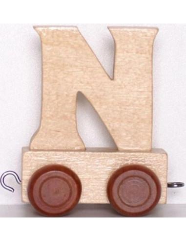 "Wagonik ""N"" – brązowe kółka"