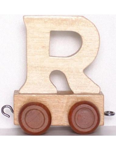 "Wagonik ""R"" – brązowe kółka"
