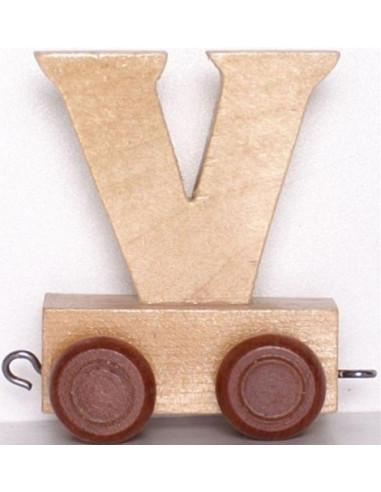 "Wagonik ""V"" – brązowe kółka"