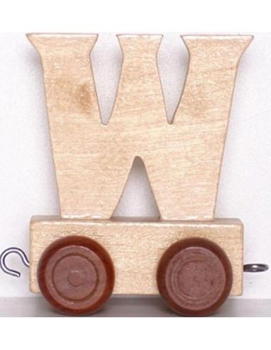"""Wagonik """"W"""" – brązowe kółka"""