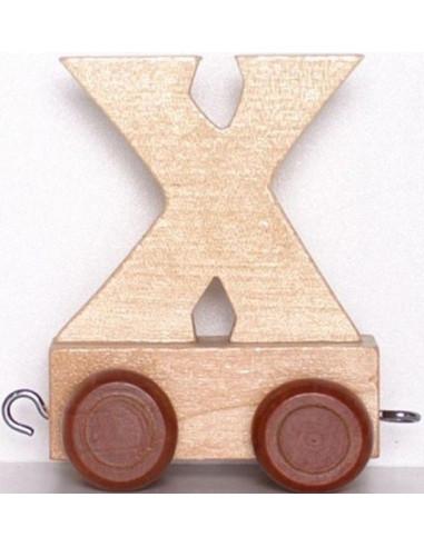 """Wagonik """"X"""" – brązowe kółka"""
