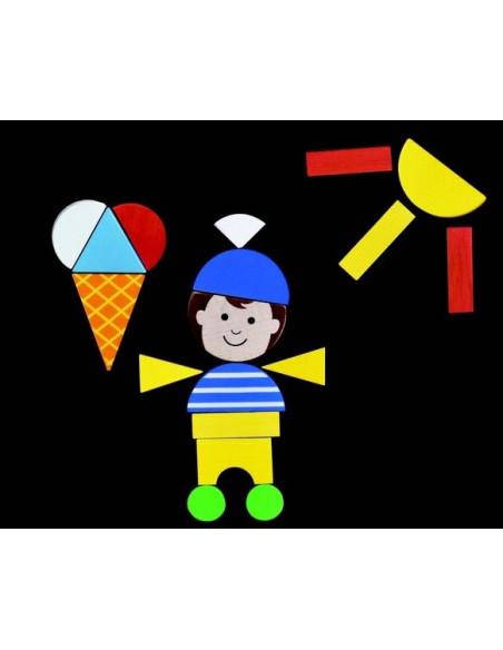 Magnetyczne puzzle - Zabawy dzieci