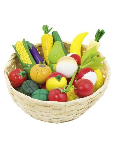 Koszyk pełen warzyw i owoców, 23 szt.