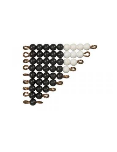 Czarno-białe schody koralikowe (1-9)