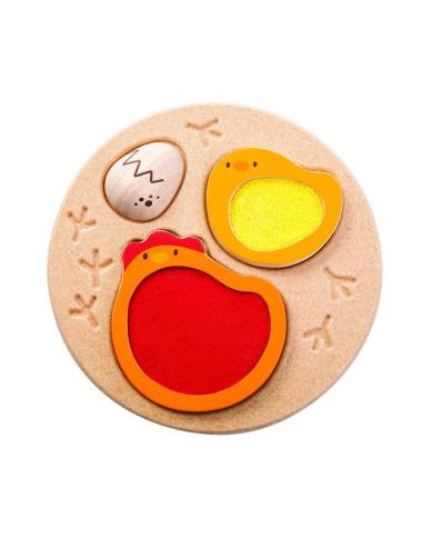 Puzzle – cykl życia kurczaka