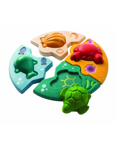 Drewniane puzzle zwierzęta morskie