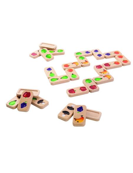 Domino z owocami i warzywami