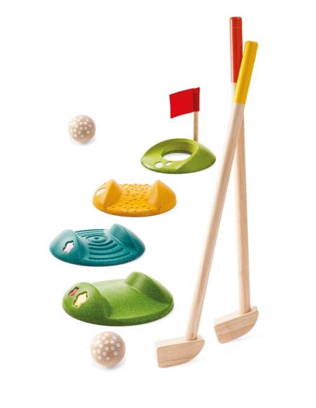 Drewniany mini golf – duży zestaw