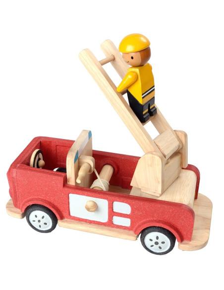 Drewniany pojazd straż pożarna