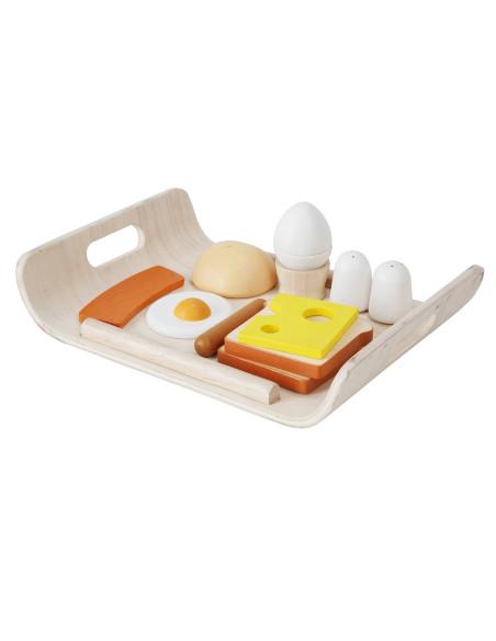Śniadanie na tacy - drewniany zestaw do zabawy