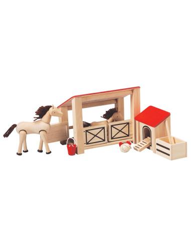 Stajnia dla koni i kurnik
