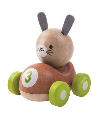 Drewniana wyścigówka królik