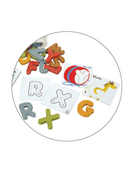 Zestaw alfabet i karty - nauka angielskiego