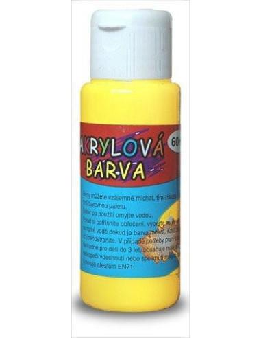 Farba akrylowa 60 ml – żółta