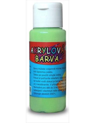 Farba akrylowa 60 ml – jasnozielona