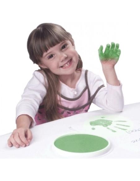 Okrągła poduszeczka – zielona