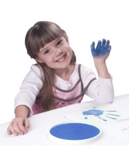 Okrągła poduszeczka – niebieska
