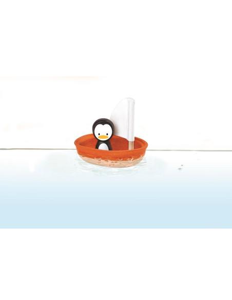 Żaglówka z pingwinem