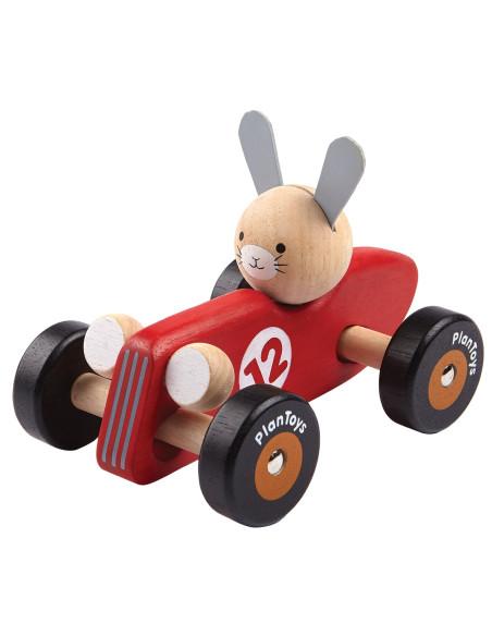 Drewniana rajdówka z królikiem