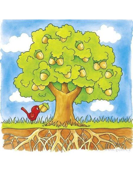 Puzzle warstwowe  – drzewo z nasiona