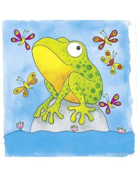 Puzzle warstwowe – żabka z kijanki