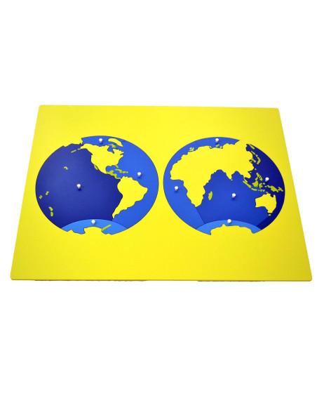 Puzzle – mapa oceanów – bez ramki