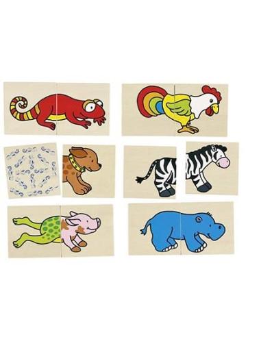 Memory i puzzle 2w1, zwierzęta