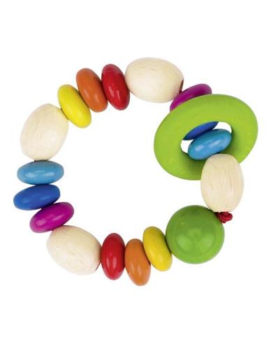 Tęczowe koraliki z pierścieniem – zabawka