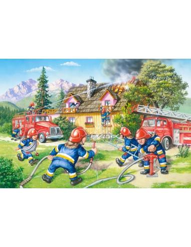 PUZZLE - Straż pożarna - 40 maxi El.