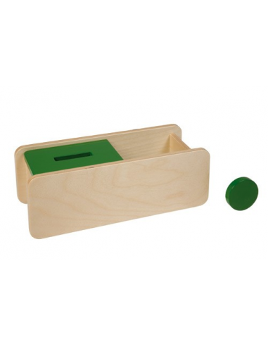 Nienhuis - Pudełko z zielona pokrywką i krążkiem