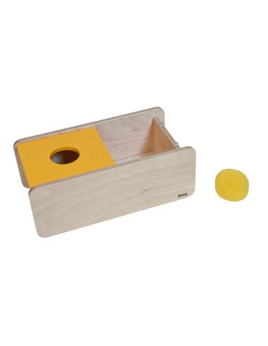 Nienhuis - Pudełko z żółtą pokrywką i piłeczką