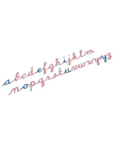 Nienhuis - Duży ruchomy alfabet, małe litery pisane, USA