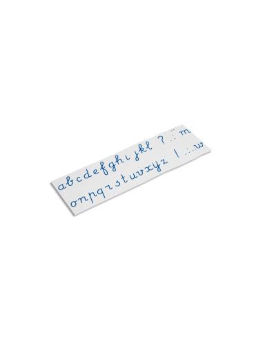 Nienhuis -  Alfabet drukowany na płytkach: pisane, niebieskie