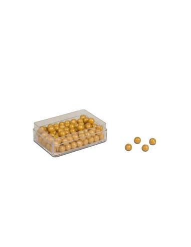 Nienhuis - 100 złotych koralików - z dziurką