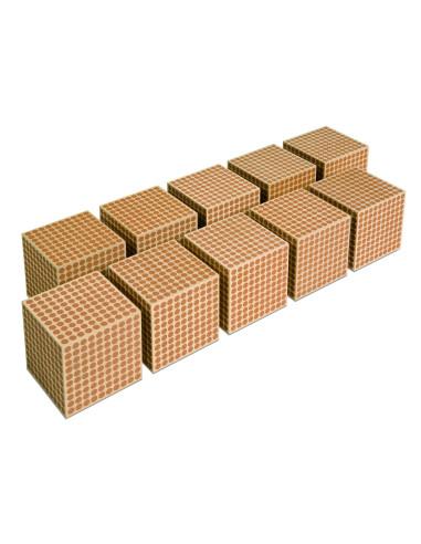 Nienhuis - Drewniany sześcian 1000, 10 szt