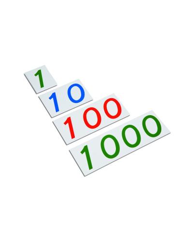Nienhuis - Duże karty z liczbami, 1-1000