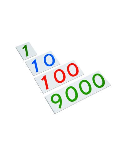 Nienhuis - Duże karty z liczbami, 1-9000