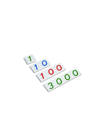 Nienhuis - Małe karty z liczbami, 1-3000