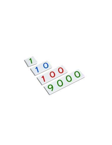 Nienhuis - Małe karty z liczbami, 1-9000